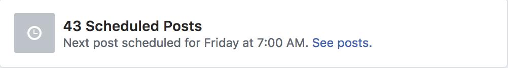 Scheduled facebook group posts